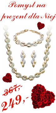 Pomysł na prezent dla Niej ! Ekskluzywny Zestaw Swarovski Elements True Love !