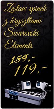 Zestaw spinek z kryształami Swarovski Elements